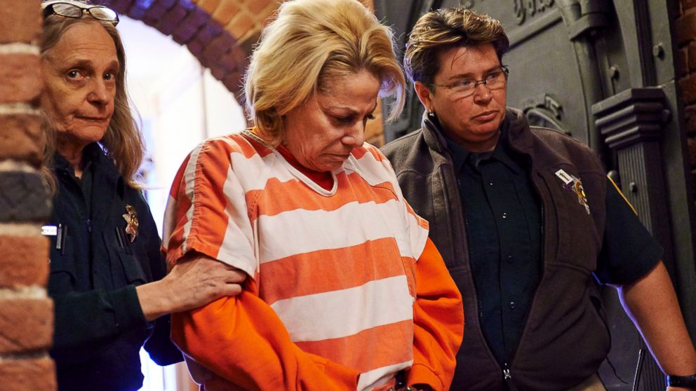 PHOTO: Murder suspect Nancy Styler is escorted to the Pitkin County Courthouse, where she waived advisement of charges in the death of Aspen native Nancy Pfister, March 4, 2014.