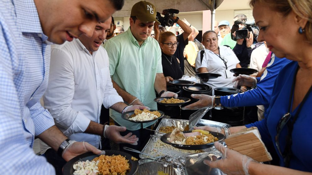 As Puerto  Rico  continues to recover from Maria, many residents turn to charities for a Thanksgiving meal