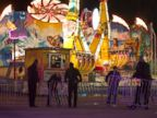 PHOTO: Fairgrounds Police secure a barricade around the Vortex after an accident closed the ride just after 9 p.m. on Thursday Oct. 24, 2013 at the N.C. State Fair in Raleigh, N.C.