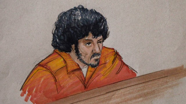 PHOTO: In this courtroom sketch, 18-year-old Adel Daoud, appears before Federal Court Judge Arlander Keys, Sept. 17, 2012, in Chicago.