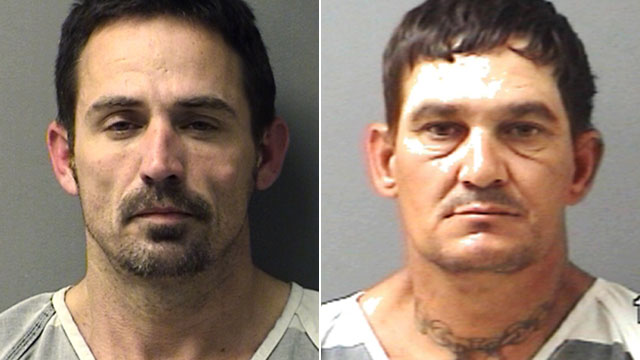 PHOTO: This booking photo provided by the The Hopkins County Sheriffs Office shows John Marlin King, left, and Brian Allen Tucker, right, an inmate awaiting trial on a capital murder charge in a 2011 slaying; the two men b