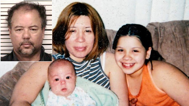 PHOTO: The wife of Ariel Castro (inset), Grimilda Figueroa, is shown with two of her children, Ryan, left, and Rosie.