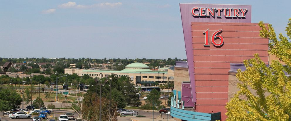 PHOTO: An overhead view of activities at the Century 16 theater east of the Aurora Mall in Aurora, Colo., July 20, 2012.