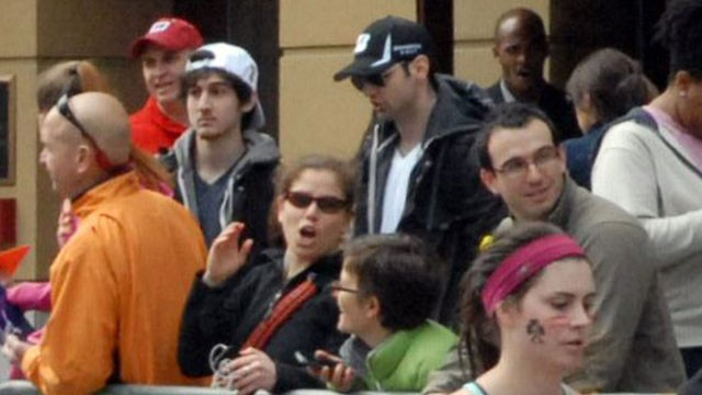 PHOTO: This April 15, 2013 photo provided by Bob Leonard shows third from left, Tamerlan Tsarnaev, who was dubbed Suspect No. 1 and second from left, Dzhokhar A. Tsarnaev, who was dubbed Suspect No. 2 in the Boston Marathon bombings by law enforcement.  T