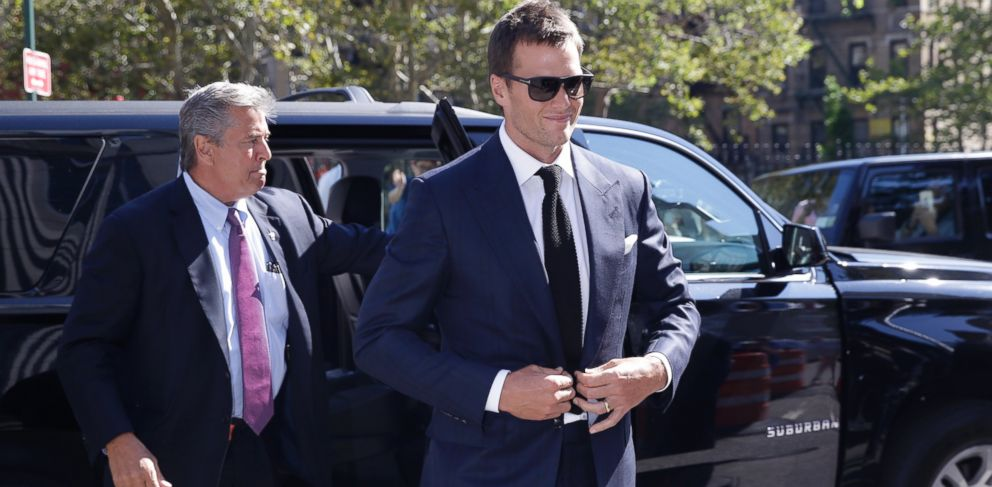 PHOTO: New England Patriots quarterback Tom Brady arrives at federal court, Aug. 12, 2015, in New York.