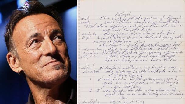 ap bruce springsteen born to run manuscript ll 131205 16x9 608 Instant Index: Bruce Springsteens Handwritten Lyrics Sell for $197K
