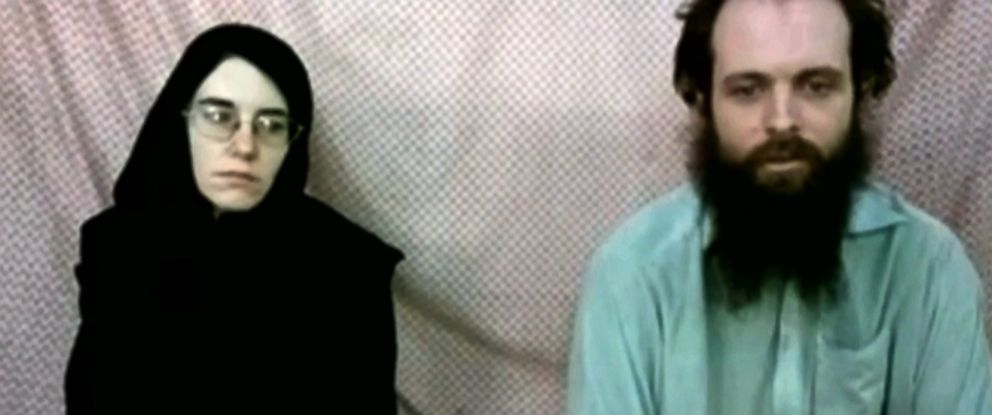 PHOTO: A frame grab from video provided by the Coleman family shows Caitlan Coleman and Joshua Boyle.