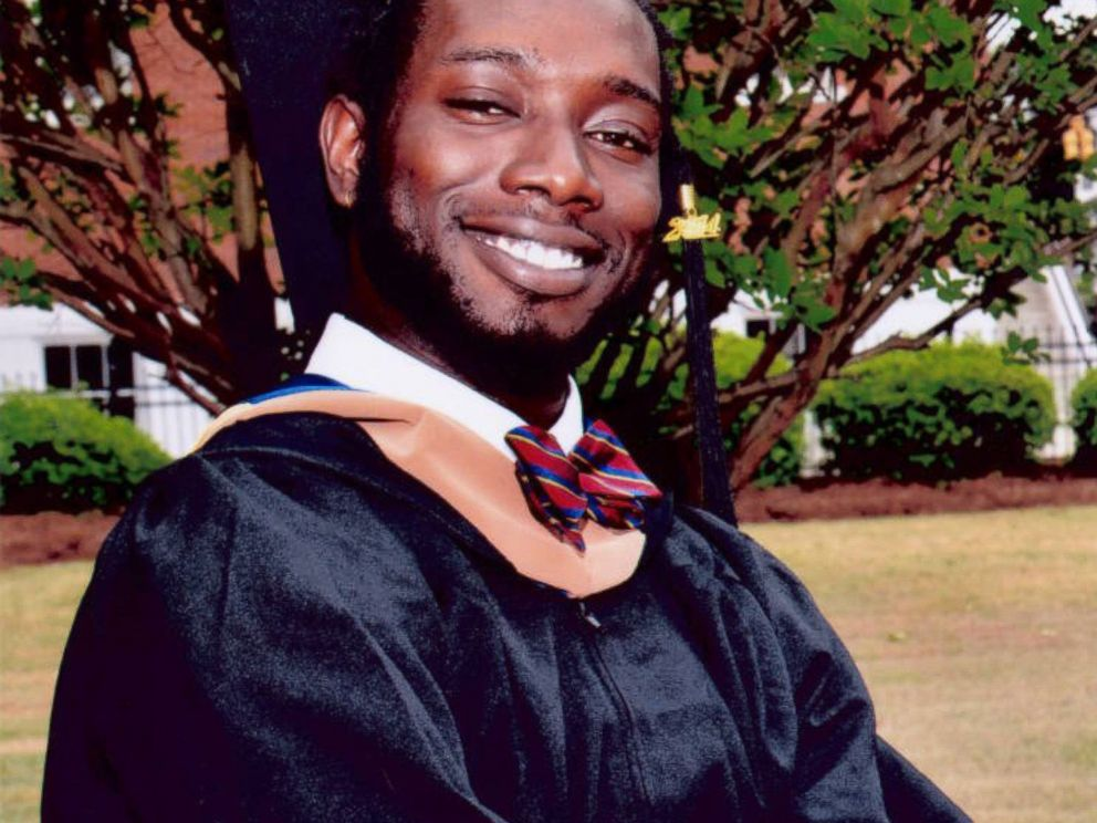 PHOTO: In this undated photo made available by Anita Brewer Dantzler shows Tywanza Sanders on the day of his graduation from Allen University in Columbia, S.C.