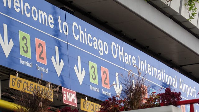 PHOTO: O'Hare Airport sign