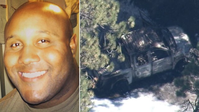 PHOTO: This undated photo released by the Los Angeles Police Department shows suspect Christopher Dorner, a former Los Angeles officer; The truck owned and driven by suspected cop killer Christopher Dorner during his alleged rampage through the Los Angele