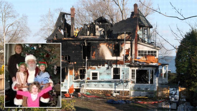 PHOTO: A Christmas morning fire that killed a couple and three of their grandchildren was accidentally started by old fireplace embers that had been discarded near a first-floor entryway, officials said, Dec. 27. 2011.