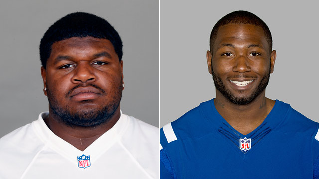 PHOTO: Josh Brent of the Dallas Cowboys NFL football team and Jerry Brown (R), NF