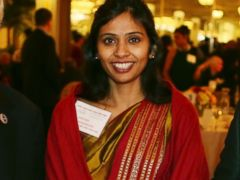 PHOTO: This Dec. 8, 2013 photo shows Devyani Khobragade, Indias deputy consul general, during the India Studies Stony Brook University fund raiser event at Long Island, New York.