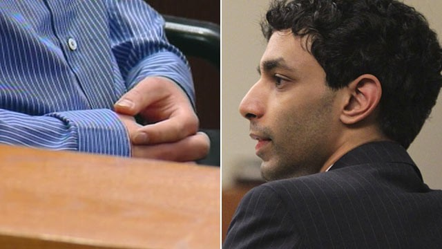 PHOTO: Dharun Ravi, left, listens to witness testimony during his trial at Middlesex County Superior Court in New Brunswick, N.J.