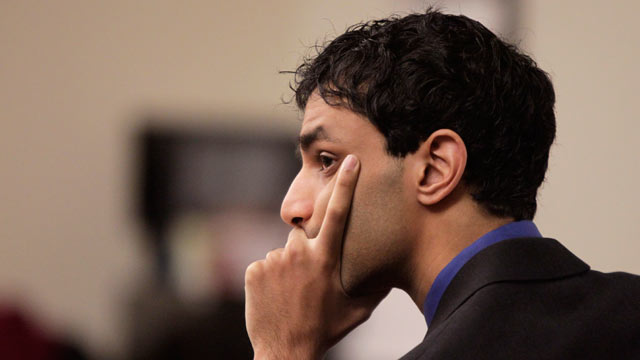 PHOTO: Dharun Ravi listens to testimony during his trial at the Middlesex County Courthouse Monday, Feb. 27, 2012 in New Brunswick, N.J.