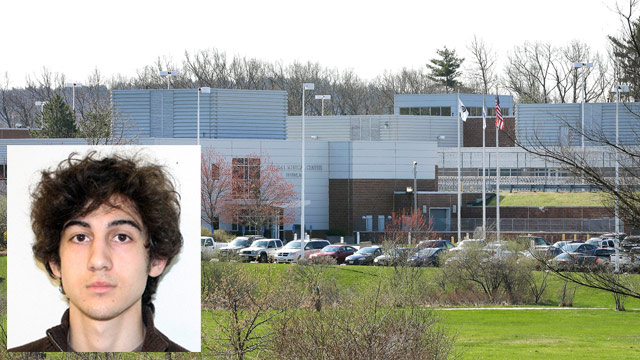 PHOTO: The U.S. Marshals Service said Friday that Dzhokhar Tsarnaev, charged in the Boston Marathon bombing April 15, 2013, had been moved from a Boston hospital to the federal medical center at Devens, about 40 miles west of the city.