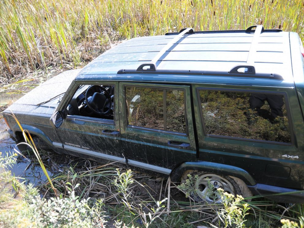 PHOTO: A police photo shows a Jeep that ambush suspect Eric Frein is believed to have driven into a swampy area and abandoned after the Sept. 12 shooting in Blooming Grove, Pa.