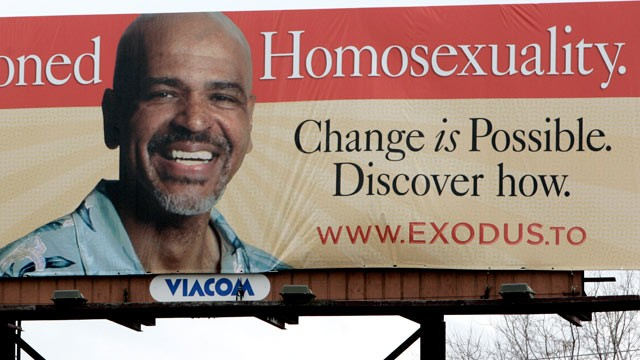 PHOTO: A billboard for a conference sponsored partially by Exodus International announces that Change is Possible for homosexuality, Feb. 16, 2006.