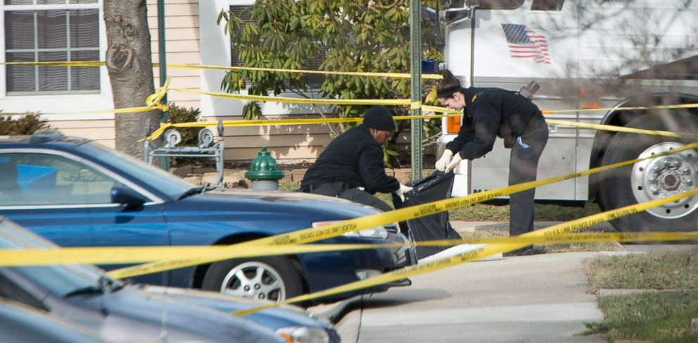 "PHOTO: Police investigate a homicide on Jan. 17, 2013 in Germantown, Md. Police who went into a home in Germantown encountered a ""very bloody scene"" and discovered two children dead, and two other children and a woman injured."