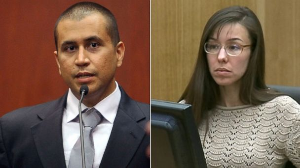 PHOTO: George Zimmerman, left, is seen in court on April 20, 2012 during a bond hearing in Sanford, Fla. while Jodi Arias, right, is seen in court on May 20, 2013.
