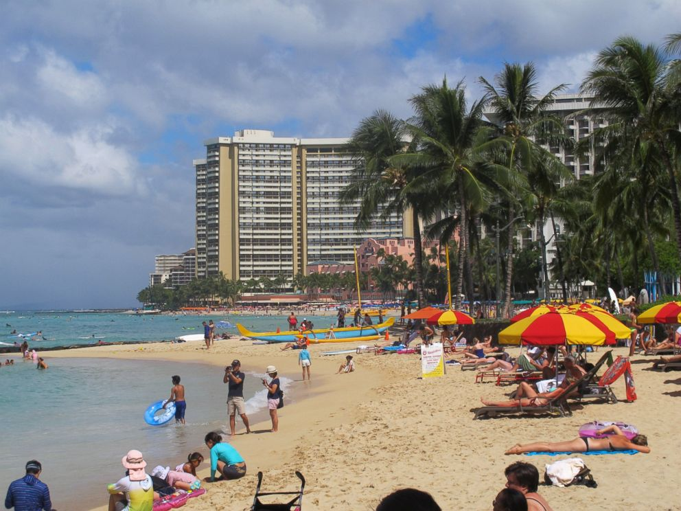 PHOTO: People lounge on Waikikis beaches in Honolulu on Aug. 6, 2014. Hawaii residents prepared for what could be the first hurricane to hit the state in more than 20 years.