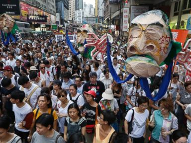 Hong Kong's Pro-Democracy Push Rallies Thousands Against Beijing