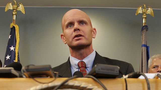 PHOTO: In this July 27, 2005 photo, FBI Agent Frederick Humphries speaks during a news conference after the sentencing of Ahmed Ressam at the Federal Courthouse in Seattle.