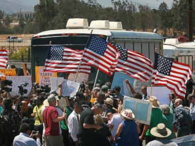 Protesters Turn Away Buses Carrying Migrant Families
