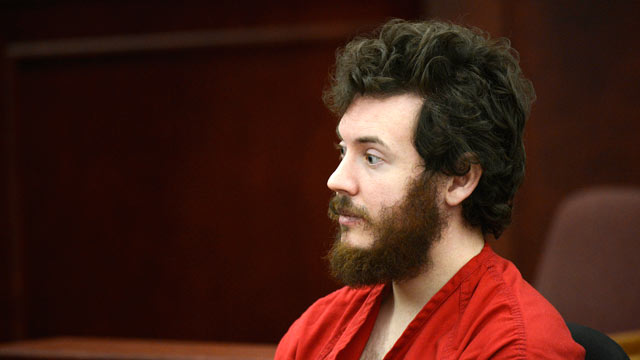 PHOTO: James Holmes sits in the courtroom during his arraignment in Cente