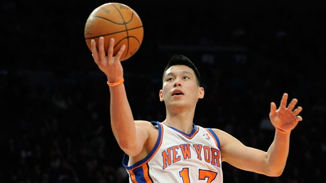 PHOTO: New York Knicks' Jeremy Lin drives to the basket during the second quarter of an NBA basketball game New Jersey Nets on Feb. 4, 2012, at Madison Square Garden in New York.