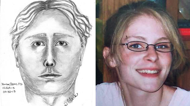 PHOTO: Authorities today released a sketch of t