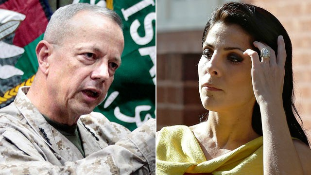 PHOTO: Gen. John Allen, shown in this file photo, left, is under investigation for alleged