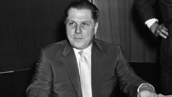 PHOTO: This July 26, 1959 file photo shows Teamsters Union president Jimmy Hoffa in Washington.