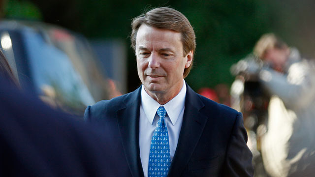 PHOTO: John Edwards arrives at federal court in Greensboro, N.C. for his criminal trial for allegedly violating campaign finance laws, April 23, 2012.