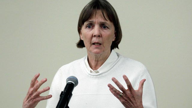 "PHOTO: Judy Clarke, a defense lawyer whose high-profile clients include ""Unabomber"" Ted Kaczynski, Olympic bomber Eric Rudolph, and Tucson shooter Jared Lee Loughner, speaks at Loyola Law School in Los Angeles April 26, 2013."