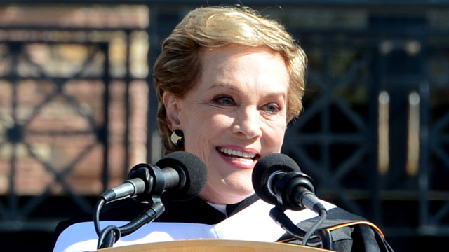 PHOTO: Actor Julie Andrews was the commencement speaker at the University of Colorado-Boulder 2013 Spring Commencement at Folsom Field, in Boulder, Colo., on Friday, May 10, 2013.