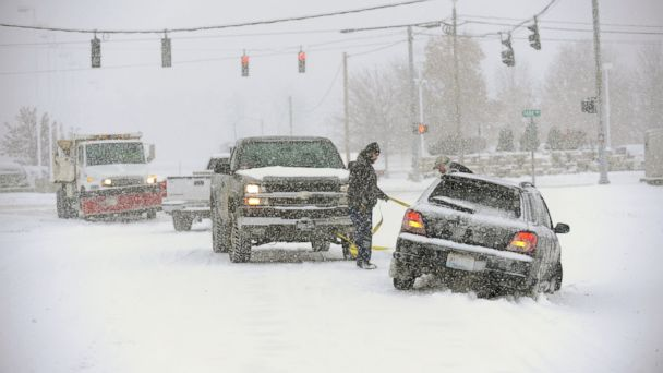 ap kentucky winter weather ll 131206 16x9 608 Storm Brings Ice Friday for 2,000 Mile Swath Across US