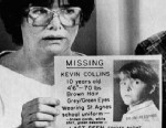 PHOTO: Ann and David Collins, parents of missing 10-year-old Kevin Collins, hold a flier during a news conference in San Francisco, March 2, 1984.
