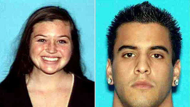 PHOTO: Hikers Kyndall Jack, 18, left, and Nicholas Cendoya, 19, hav