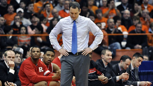 PHOTO: Former Rutgers University mens basketball coach, Mike Rice, will receive a $100,000 bonus from the school, despite being fired on April 3, 2013.