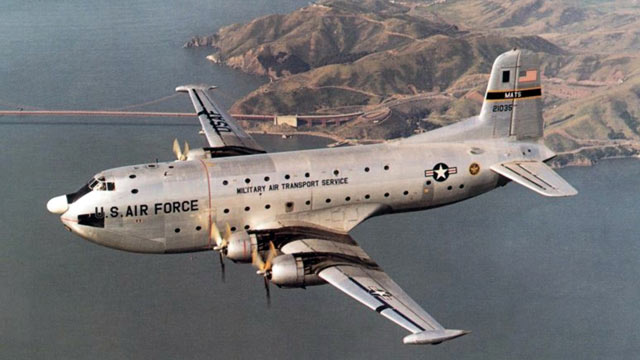 PHOTO: This image provided by the U.S. Air Force shows an undated photo of a C-124A Globemaster cargo aircraft similar to the plane that went down on the Colony Glacier in Alaska in 1952 killing all 52 people onboard.