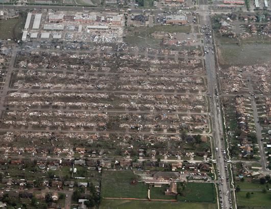 Oklahoma Tornado Levels Towns