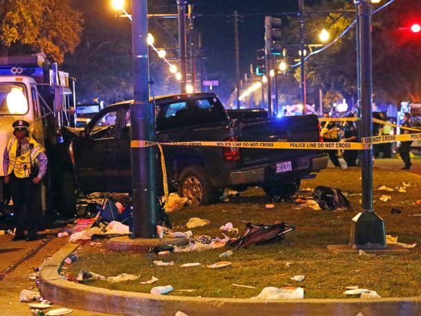 Pickup truck plows into New Orleans parade crowd, 28 injured