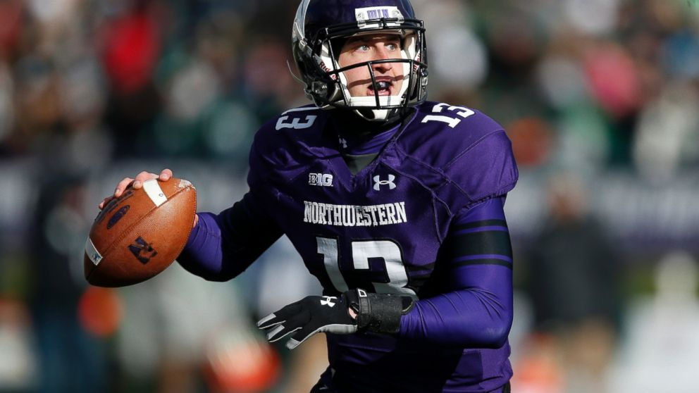 PHOTO: In this Nov. 23, 2013 file photo, Northwestern quarterback Trevor Siemian during a game against Michigan State in Evanston, Ill.