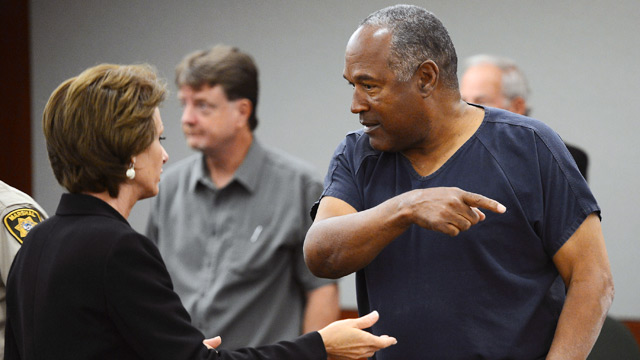 PHOTO: O.J. Simpson and attorney in court