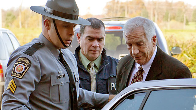 PHOTO: Gerald Jerry Sandusky in handcuffs