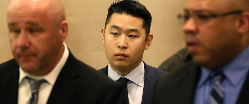 PHOTO: Peter Liang leaves the courtroom after his sentencing in New York, April 19, 2016.