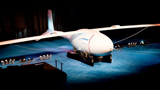 PHOTO: This image shows the hydrogen-powered Phantom Eye unmanned airborne system, a demonstrator that will stay aloft at 65,000 feet for up to four days.