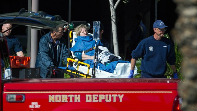 PHOTO: Woman on stretcher
