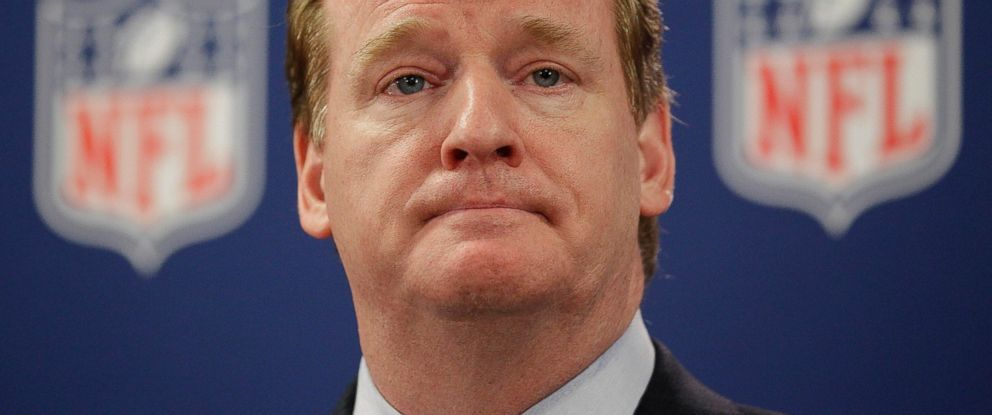 PHOTO: NFL Commissioner Roger Goodell pauses during a new conference in Atlanta on May 22, 2012.